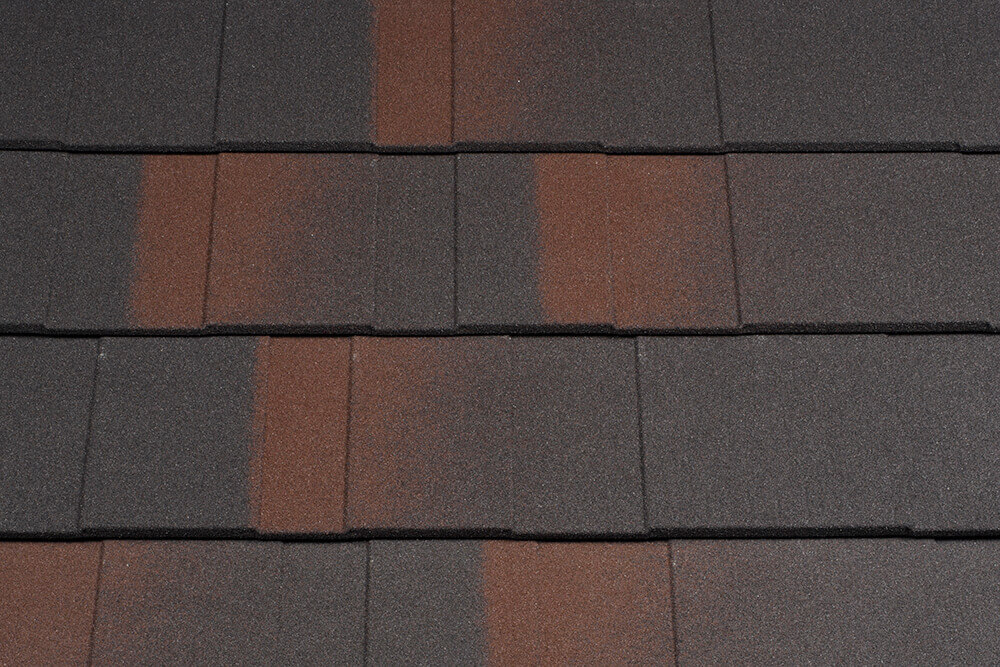 Țiglă metalică pentru acoperiș Metrotile Shingle Black Brown