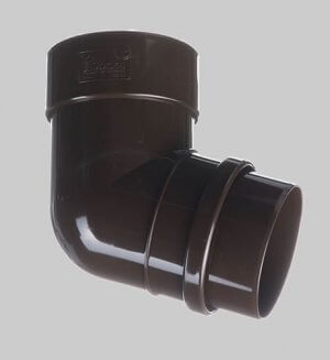Водосточная система из пластика Docke Lux Pipe elbow 72° Chocolate