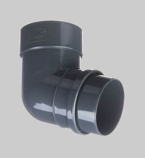 Водосточная система из пластика Docke Lux Pipe elbow 72° Graphite