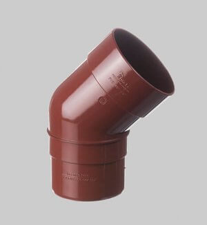 Водосточная система из пластика Docke standart Pipe elbow 45° Pomegranate
